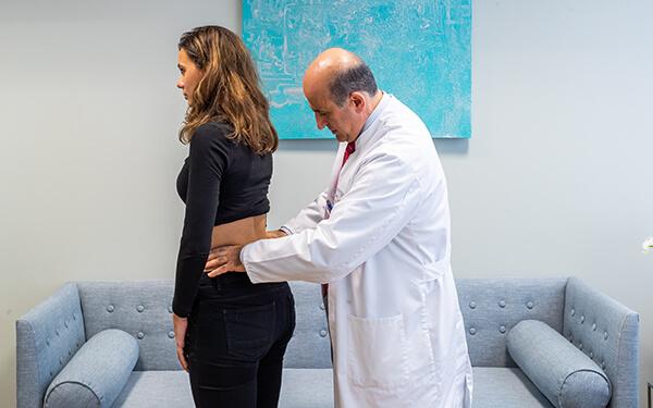Orthopädische Untersuchung der Hüfte