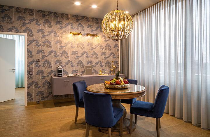 Wohnbereich in der Suite